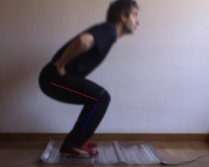 opencv side legs recognition chronojump